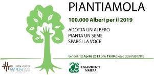 PIANTIAMOLA: 100.000 alberi per Matera  - Matera