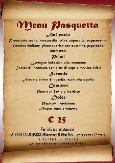 Pranzo di Pasquetta 2013 al Ristorante La Grotta di Bacco  - Matera