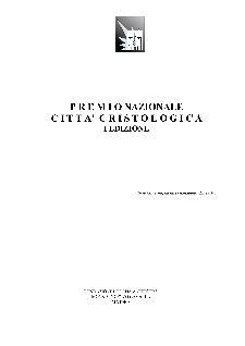 Premio Nazionale Città Cristologica  - Matera