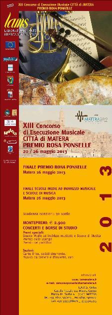 Premio Rosa Ponselle 2013  - Matera