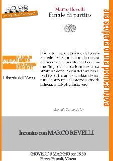 """Presentazione del libro di Marco Revelli """"Finale di partito"""" - 9 maggio 2013 - Matera"""