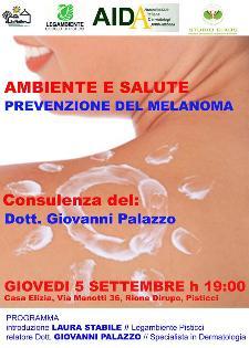 Prevenzione del Melanoma - 5 settembre 2013 - Matera