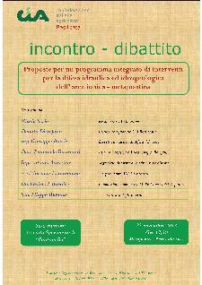 Proposte per un programma integrato di interventi per la difesa idraulica ed idrogeologica dell�area ionico-metapontina - 23 novembre 2013 - Matera