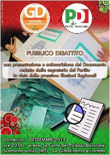 Pubblico Dibattito PD & GD - 1 settembre 2013 - Matera