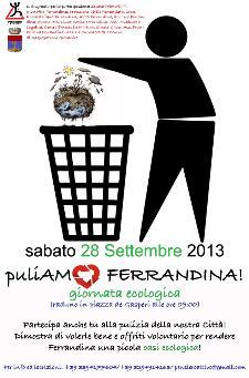 Puliamo Ferrandina - Giornata Ecologica - 28 settembre 2013 - Matera