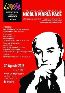 Riconoscimento Nicola Maria Pace - prima edizione - 30 agosto 2013 - Matera