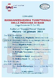 Riorganizzazione territoriale della Medicina di Base - 26 gennaio 2013 - Matera