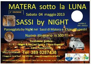 SASSI BY NIGHT IN 500 - Vespa e Auto d Epoca - 4 maggio 2013 - Matera