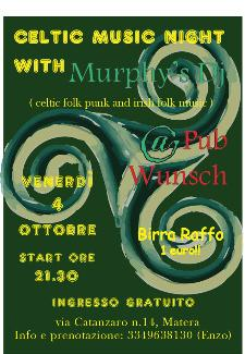 Serata celtic irish folk punk  - Matera