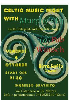 Serata celtic irish folk punk  - Matera