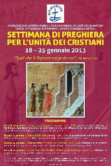 SETTIMANA DI PREGHIERA PER L'UNITA' DEI CRISTIANI - dal 18 al 25 gennaio 2013 - Matera