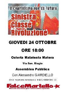 Sinistra,Classe,Rivoluzione - 24 ottobre 2013 - Matera