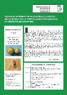 Tecniche alternativa al controllo chimico della mosca della frutta - 5 novembre 2013 - Matera