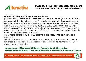 Un'altra Basilicata � possibile  - Matera