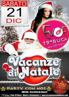 Vacanze di Natale all'Evoè 19a Buca - Matera