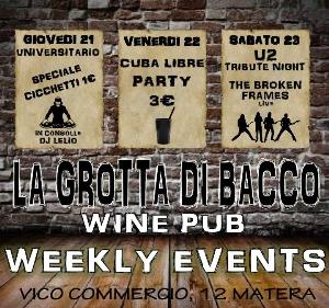 Weekly Events  - Matera