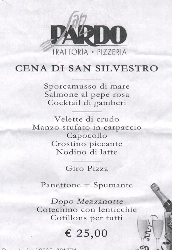 Cena di San Silvestro al Ristorante San Pardo