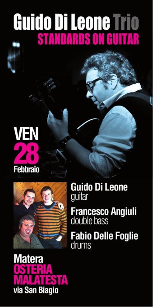 Concerti d´Osteria: Guido di Leone Trio - 28 Febbraio 2014