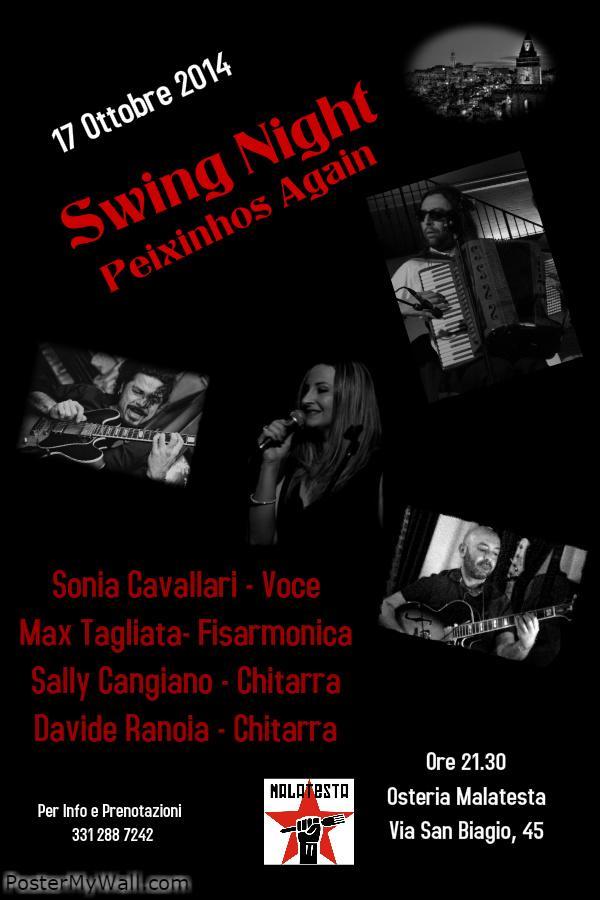 Concerti D´Osteria: Peixinhos Again - 17 Ottobre 2014