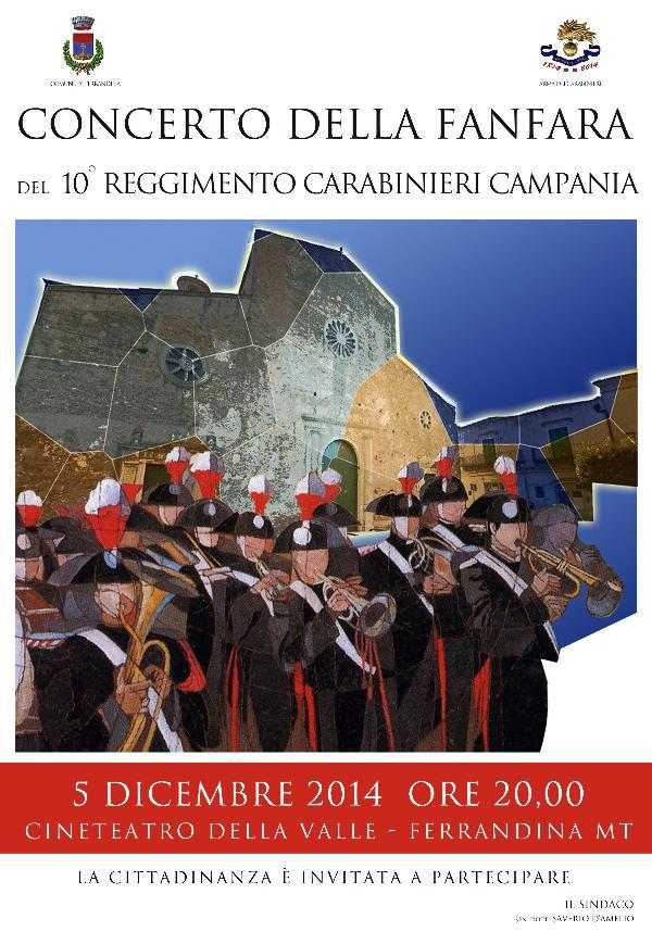 Concerto della Fanfara del 10° Reggimento Carabinieri Campania