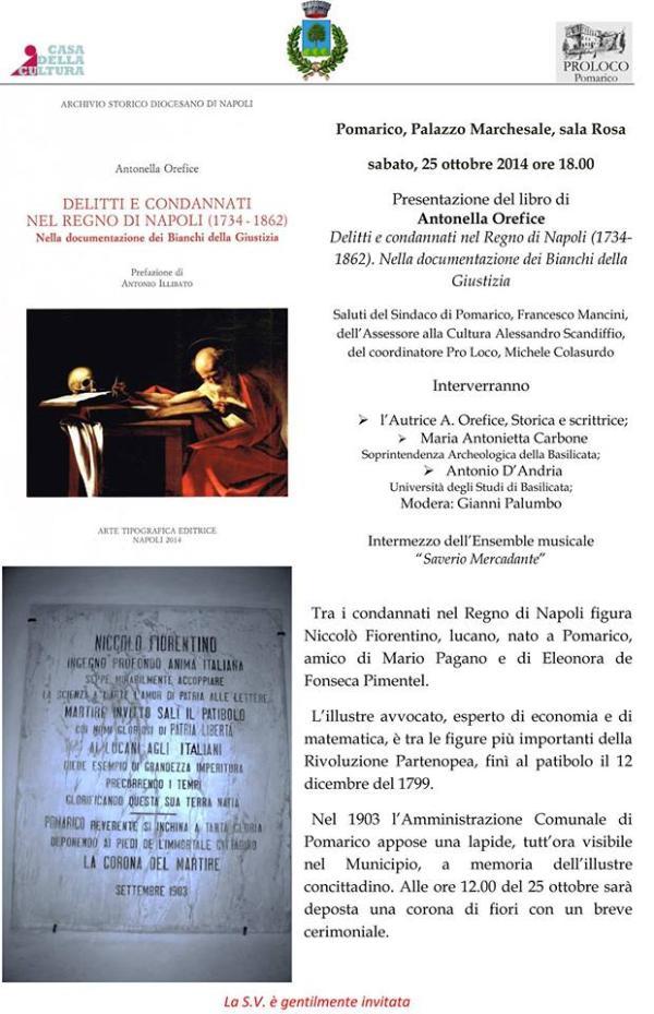 Delitti e condannati nel Regno di Napoli - 25 Ottobre 2014