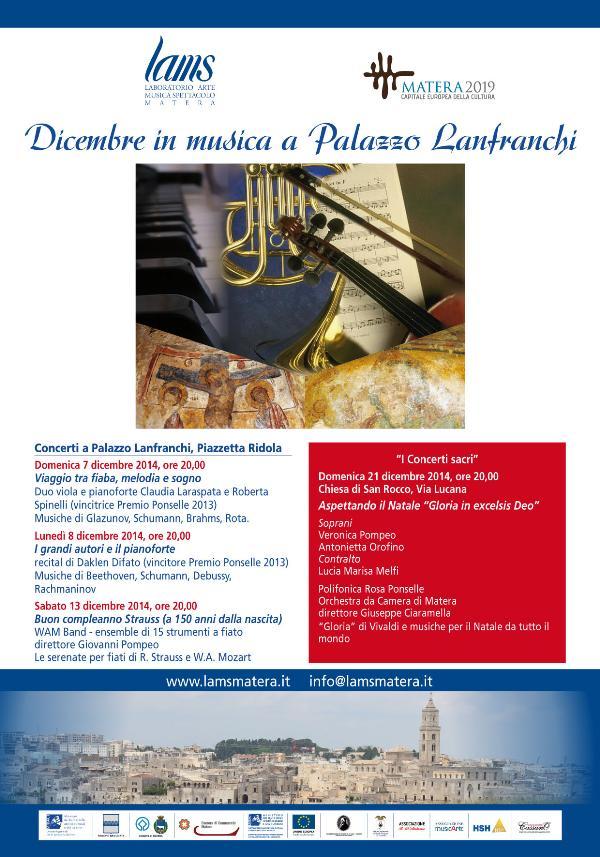 Dicembre in musica a Palazzo Lanfranchi