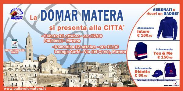 Domar Matera:la squadra si presenta alla città