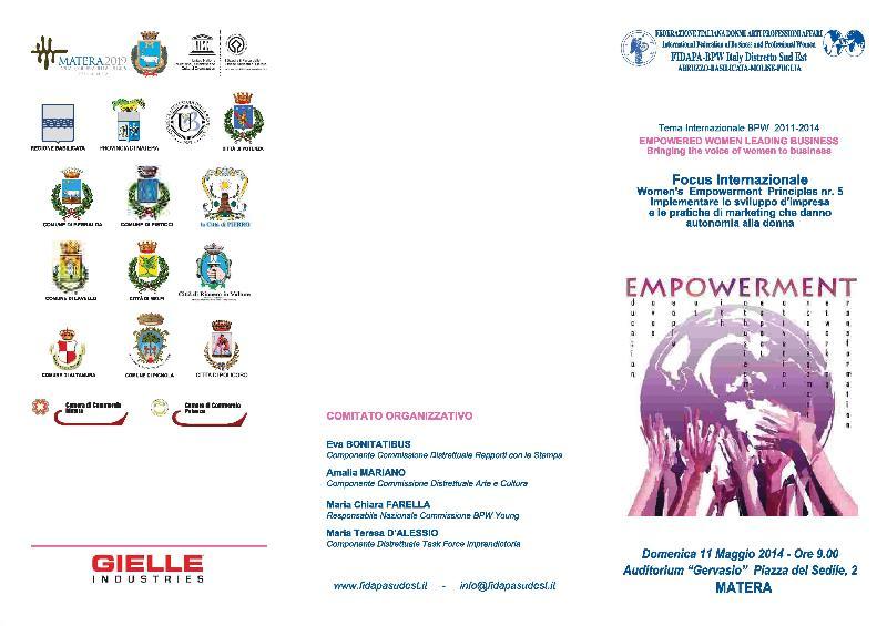 Empowerment  - 11 Maggio 2014