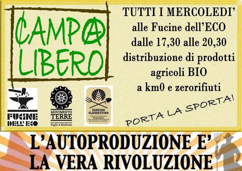 Fierucola delle Autoproduzioni-mercatino CampoLibero