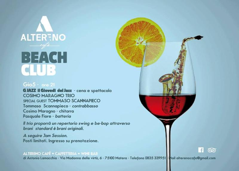 """G Jazz - """"Cosimo Maragno trio SPECIAL GUEST Tommaso Scannapieco"""" - 5 giugno 2014"""