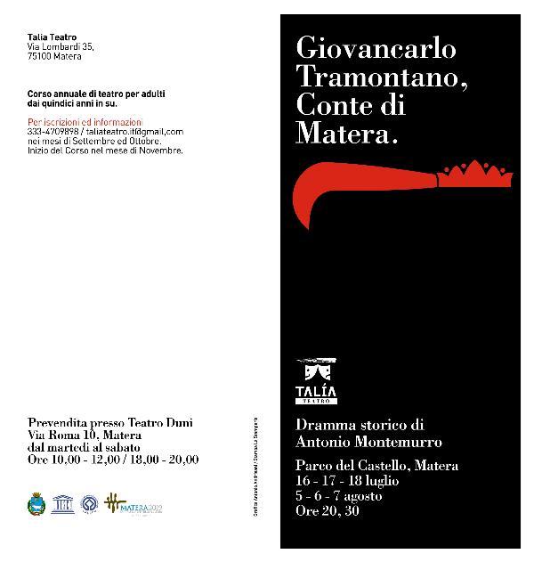 Giovancarlo Tramontano, Conte di Matera