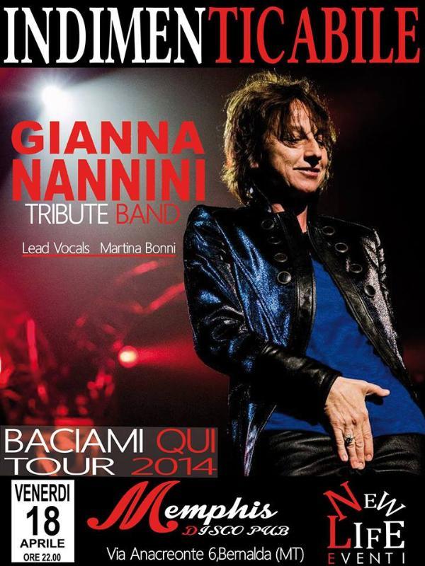 """""""INDIMENTICABILE"""" tribute to GIANNA NANNINI"""