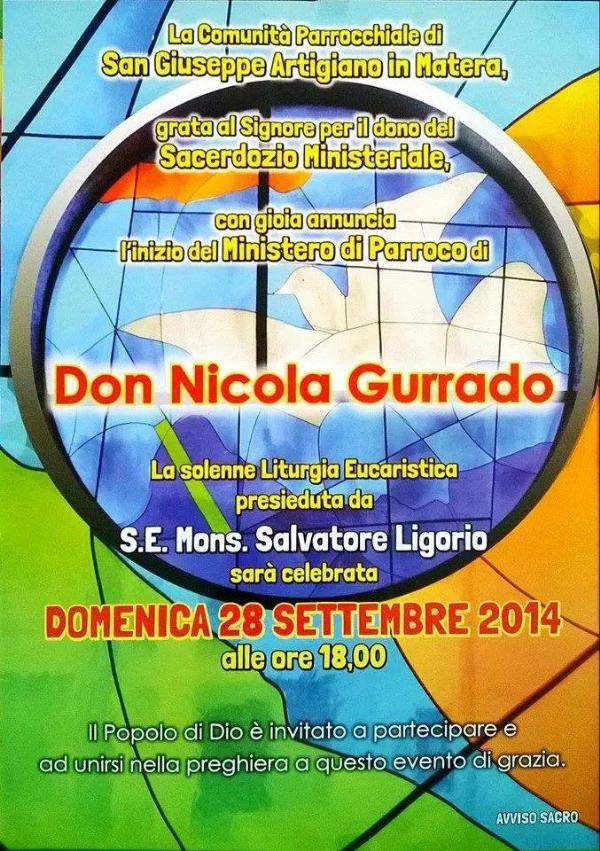 Inizio Ministero di parroco di Don Nicola Gurrado - 28 settembre 2014