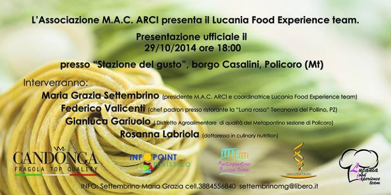 Lucania Food Experience Team - 29 Ottobre 2014