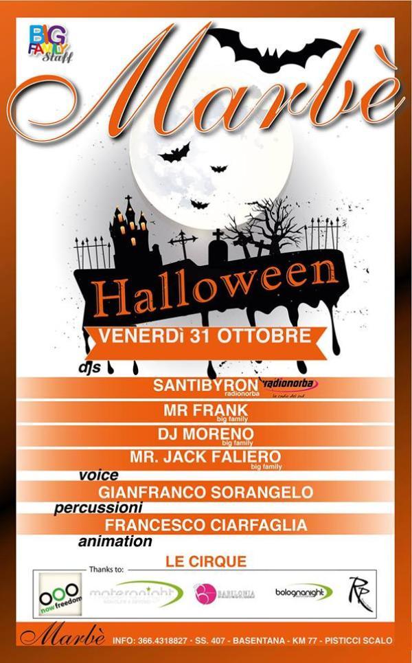 Magico Halloween al Marbè - 31 Ottobre 2014