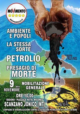 Manifestazione Nazionale contro le estrazioni petrolifere - 9 Novembre 2014