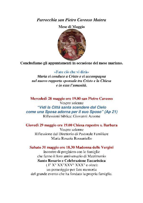 Mese di Maggio San Pietro Caveoso