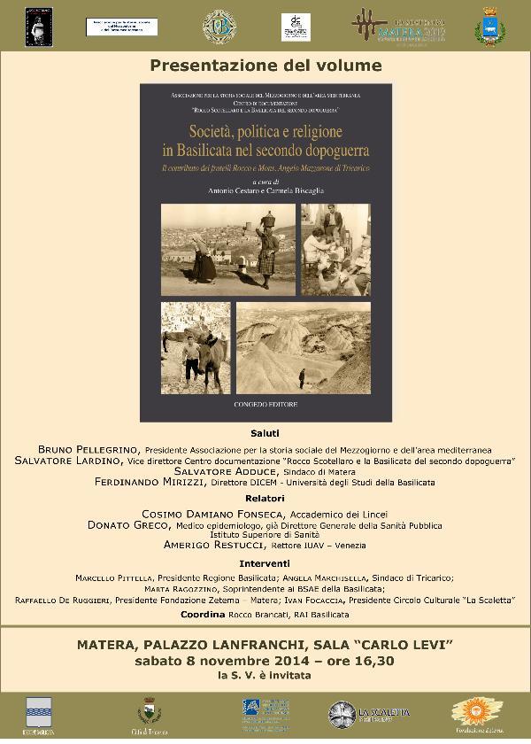 Società,politica e religione in Basilicata nel secondo dopo guerra - 8 Novembre 2014