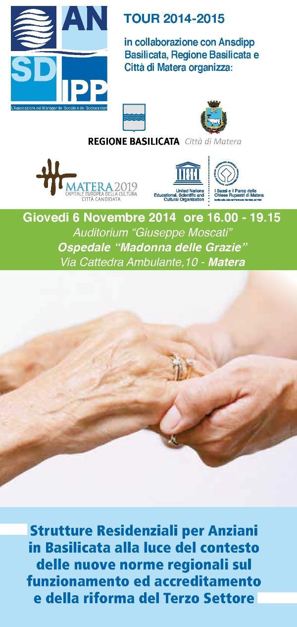 Strutture Residenziali per Anziani in Basilicata alla luce del contesto delle nuove norme regionali sul funzionamento ed accreditamento e della riforma del Terzo Settore