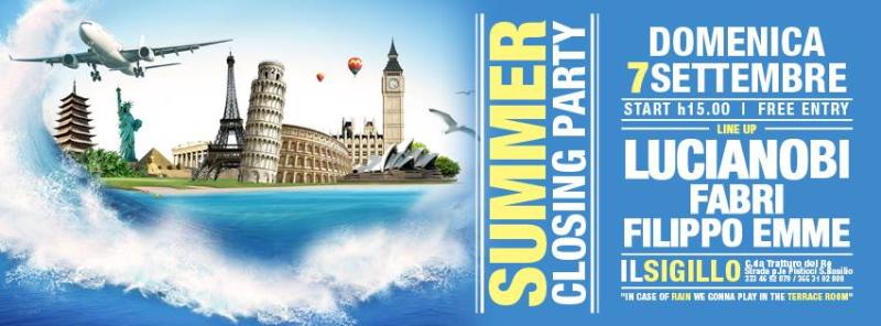 SUMMER CLOSING PARTY - 7 settembre 2014