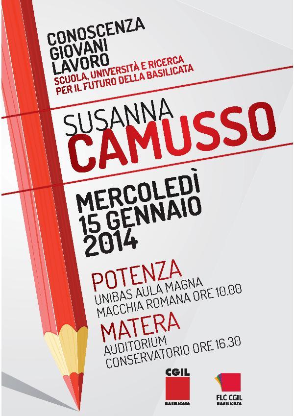 Susanna Camusso in Basilicata