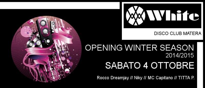 Weekend al White - 4 Ottobre 2014