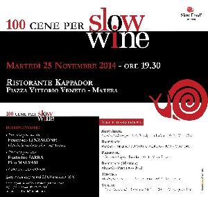 100 cene per Slow Wine  - Matera