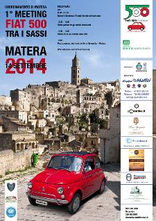 1� Meeting Fiat 500 tra i Sassi - 14 settembre 2014 - Matera
