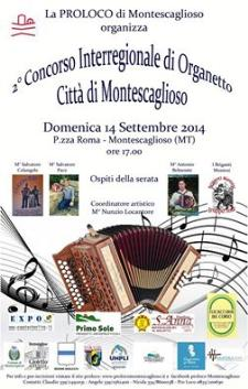 2° Concorso Nazionale di Organetto Città di Montescaglioso - 14 settembre 2014 - Matera