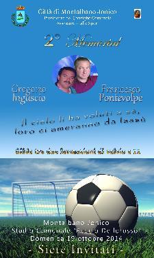 2° Memorial dedicato al  Prof. Gregorio INGUSCIO e al compianto Avv. Francesco PONTEVOLPE - 19 Ottobre 2014 - Matera