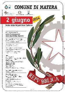 68° Anniversario della Proclamazione della Repubblica Italiana - 2 Giugno 2014 - Matera