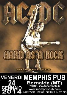 AC/DC Tribute Hard as a Rock - 24 gennaio 2014 - Matera