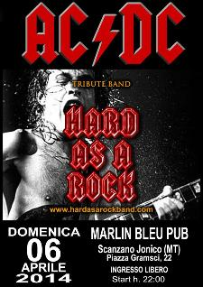 AC/DC Tribute HARD AS A ROCK - 5 Aprile 2014 - Matera