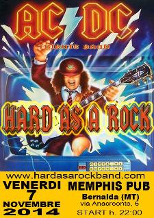 AC/DC Tribute HARD AS A ROCK - 7 Novembre 2014 - Matera